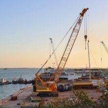 Crane on Wharf Contact Us Page